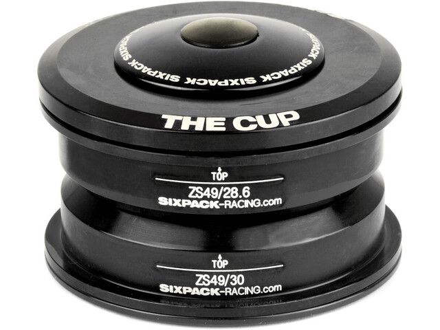 Sixpack The Cup Styrfitting ZS49/28.6 I ZS49/30, black